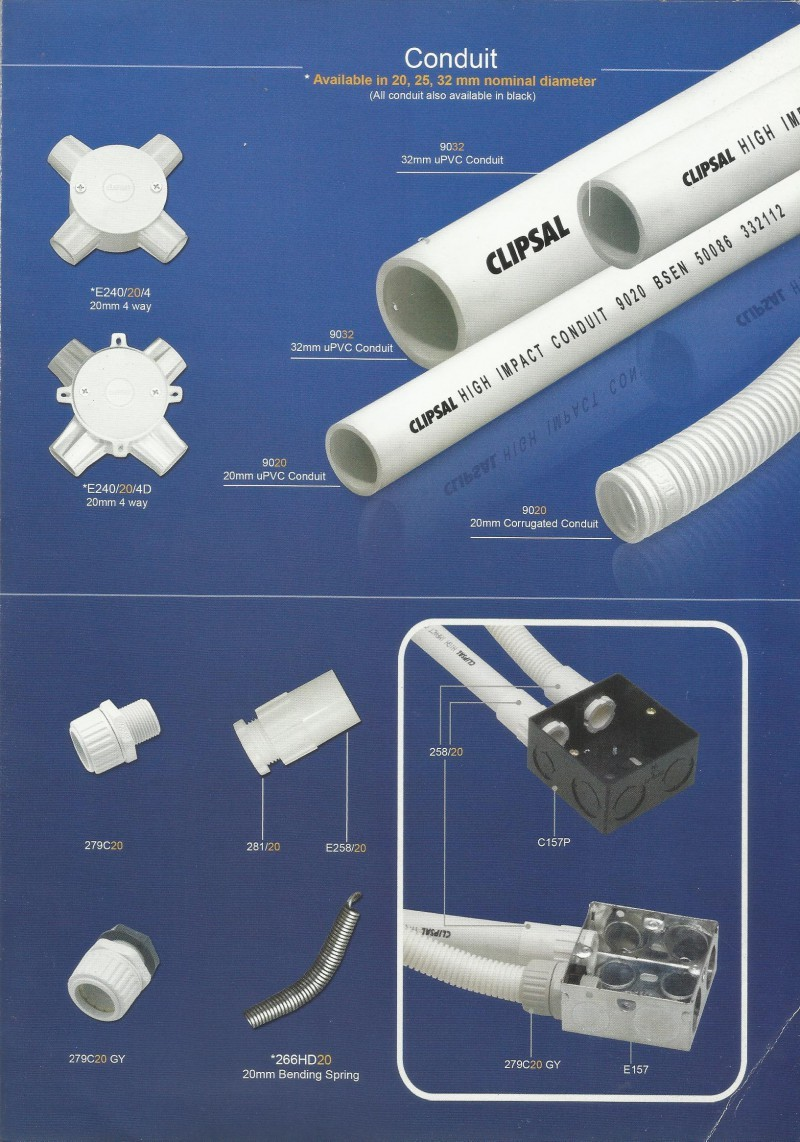 PIPA & ACCESSORIES PVC Series Conduit & Fittings