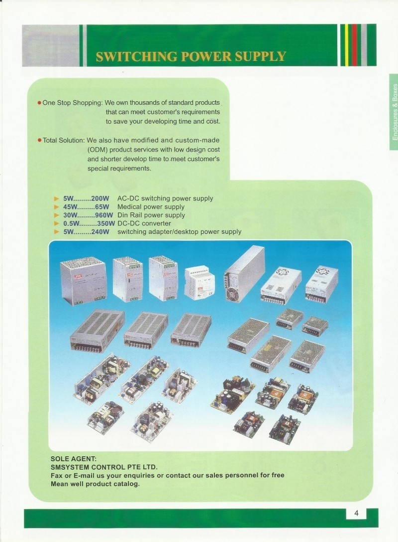 ACCESSORIES PANEL Switching Power Supply