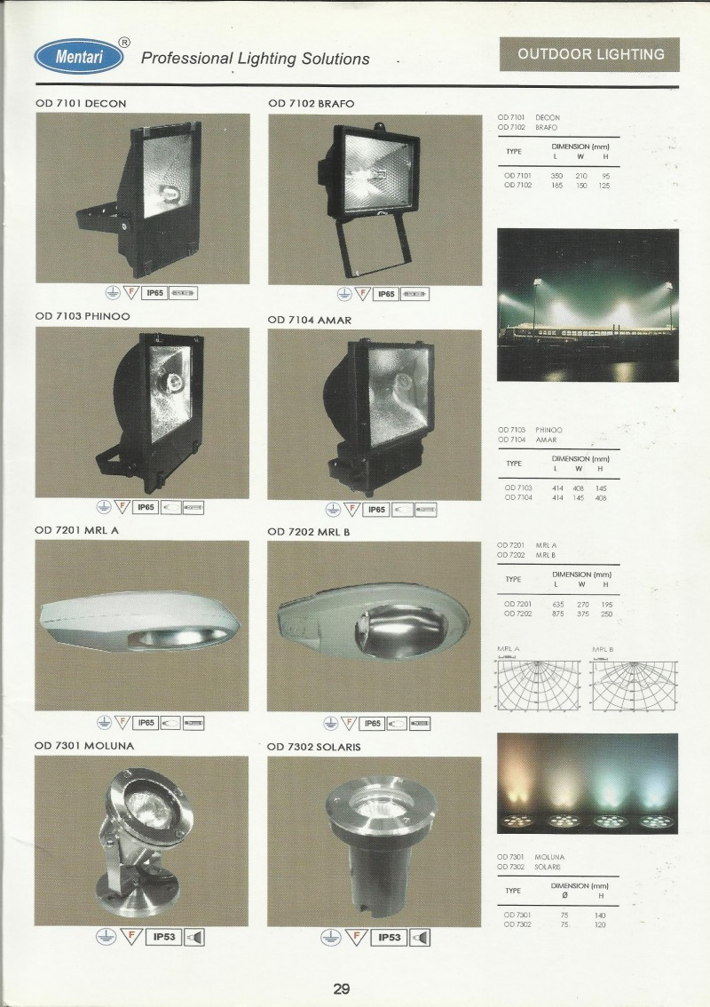 MENTARI LIGHTING Outdoor Lighting