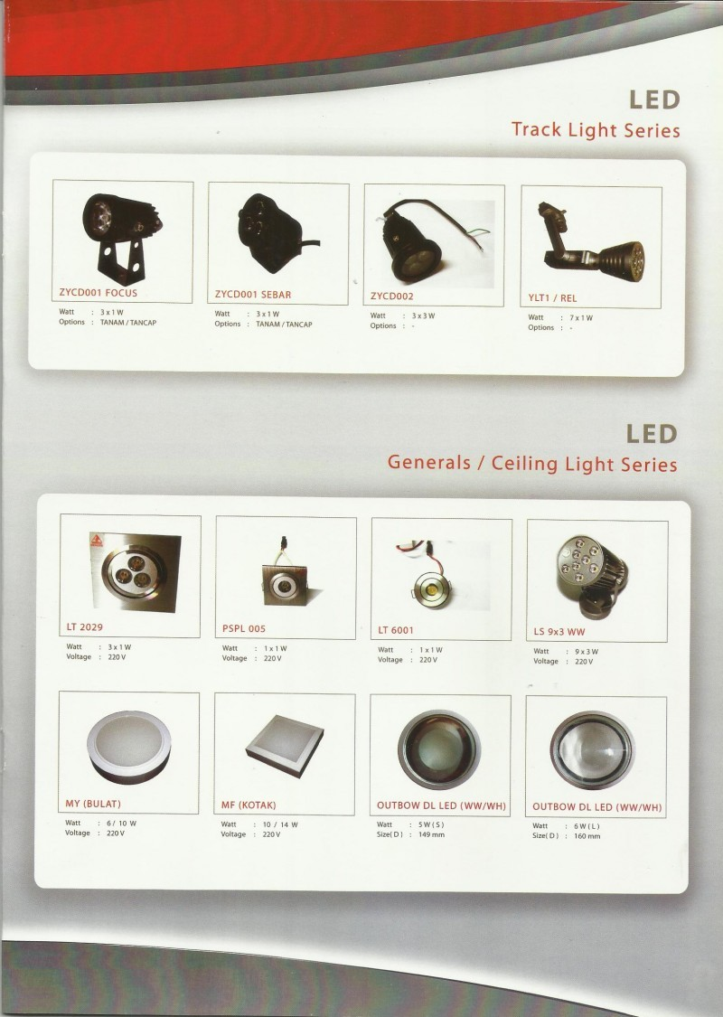 GENLITE LED-Track Light Series & Generals/Ceilling Lamp Series