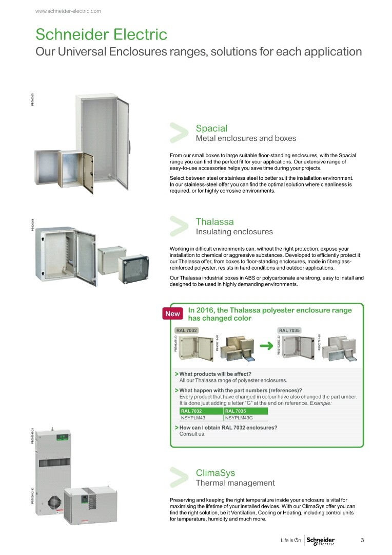 ACCESSORIES PANEL & BOX PANEL, UNIVERSAL ENCLOSURES SCHNEIDER 2017, Schneider Electric - Universal Enclosures Ranges