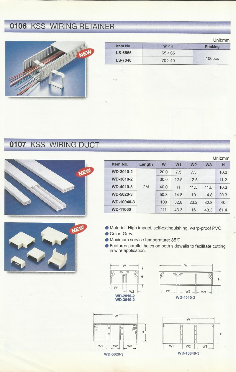 ACCESSORIES PANEL & BOX PANEL, WIRING ACCESSORIES KSS, Wiring Retainer