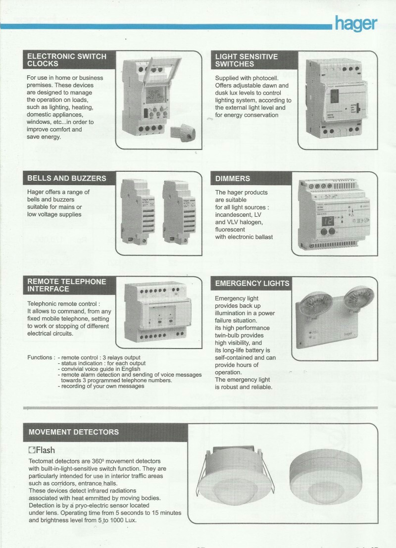 ACCESSORIES PANEL & BOX PANEL, DAFTAR HARGA HAGER, Electronic Switch Clocks